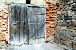 Austrian barn door, photo taken by Deanne