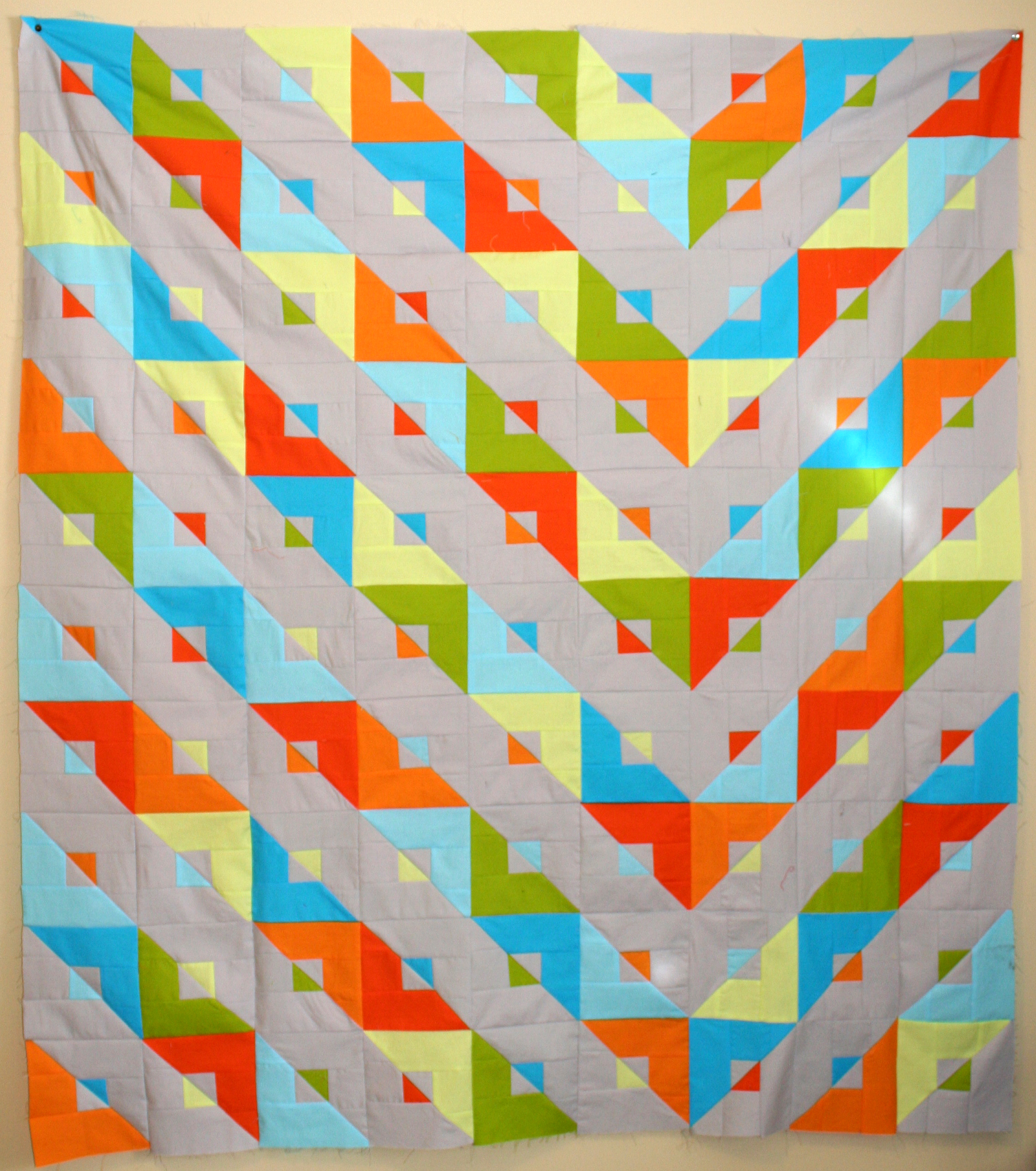Jennifer T-Z's modern quilt take on the transformer pattern, created
