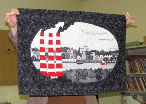 Heather Loney's quilt of the view from Tufts Cove