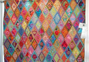 Tina's Jeweled Diamonds was the featured quilt at the International Quilt Festival this past weekend.