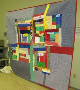 Dominique's modern quilt
