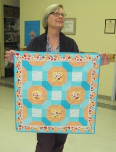 Jean's quilt took top honours in the Quilt Block Challenge.