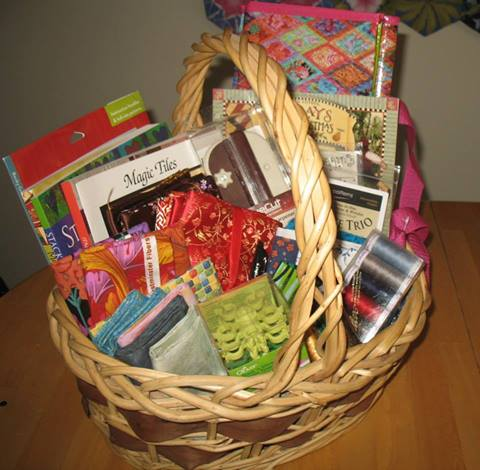 Mariner's Gift Basket with prizes donated by members